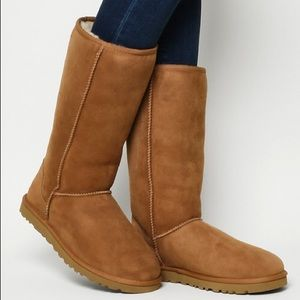 UGG Classic Tall Chestnut Boots (like new)